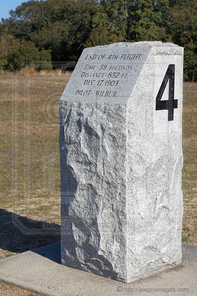 End of 4th Flight Marker, Wright Brothers Flight Line
