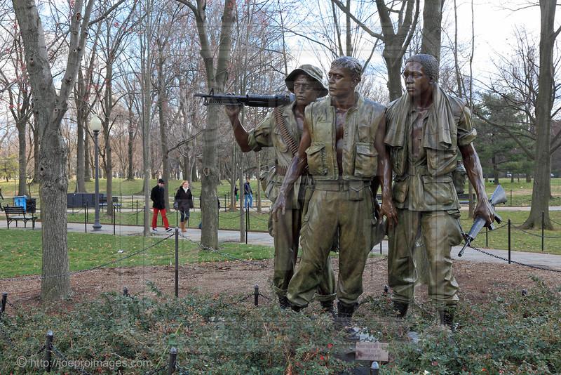 Vietnam Veterans Memorial:  Three Servicemen Statue