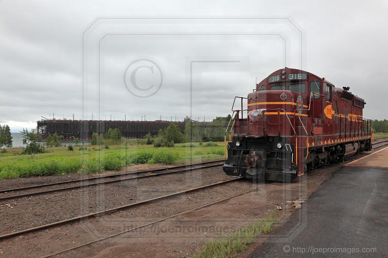 DM&IR #316 Model SD-M Diesel Locomotive