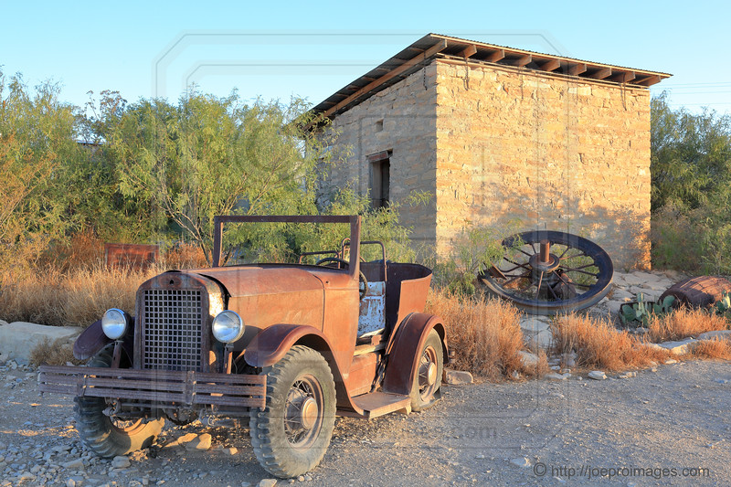 Old Rusty Car in Terlingua Ghost Town