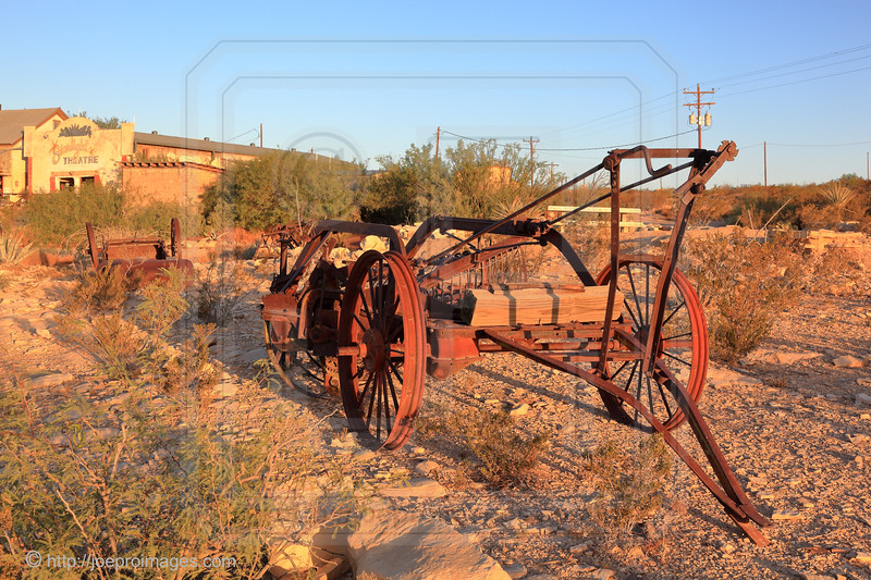 Old Rusty Machinery in Terlingua Ghost Town