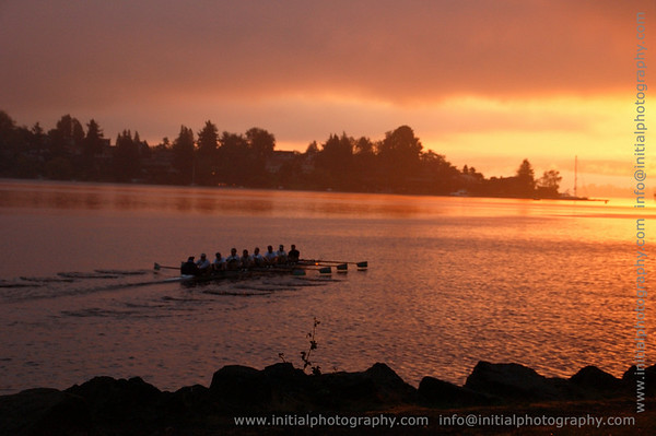 Morning Rowers, Lake Washington