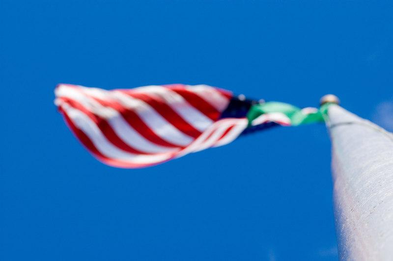 Flags flying on the University of Washington Campus
