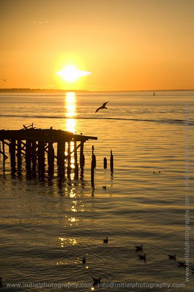 Sun Setting On The Columbia
