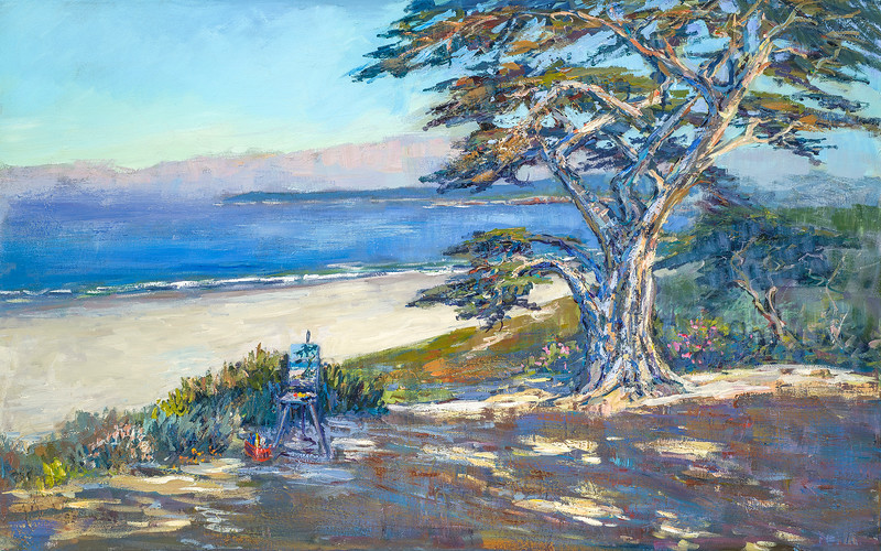 plein air easel along 8th  scenic  30x48 $2800