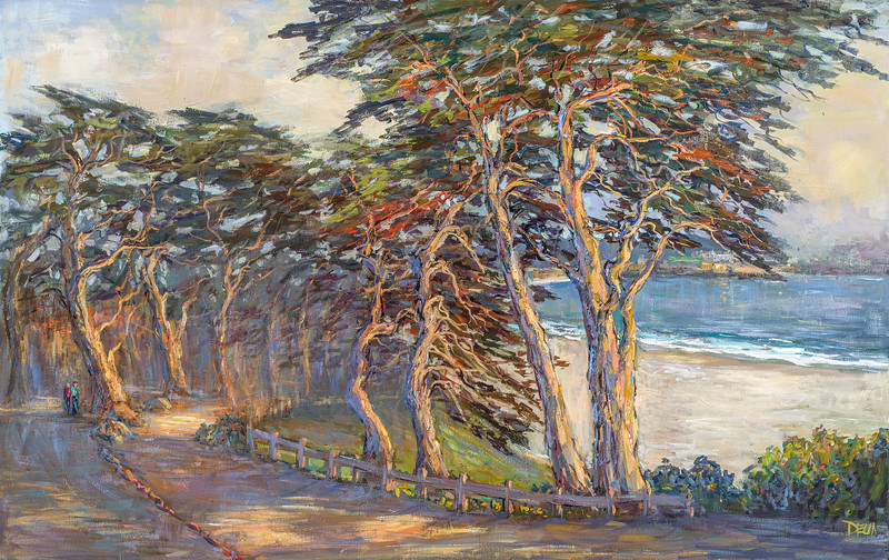 late light along  scenic Dr Carmel 36x60 $4300