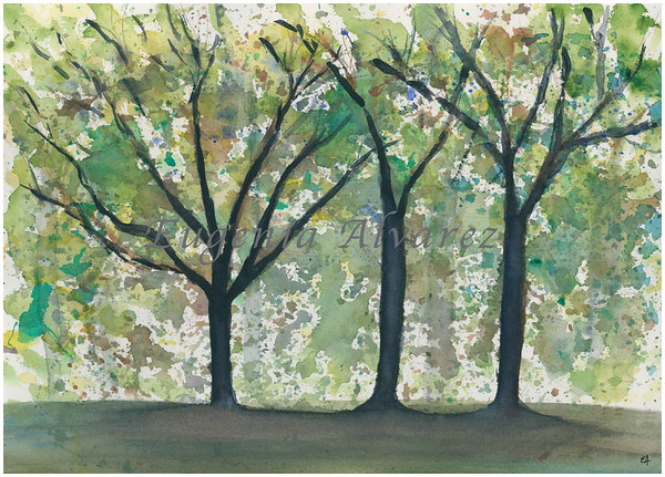 Abstract Trees Watercolor Painting Art Print from Watercolor Painting Abstract Art Print Watercolor Wall Art