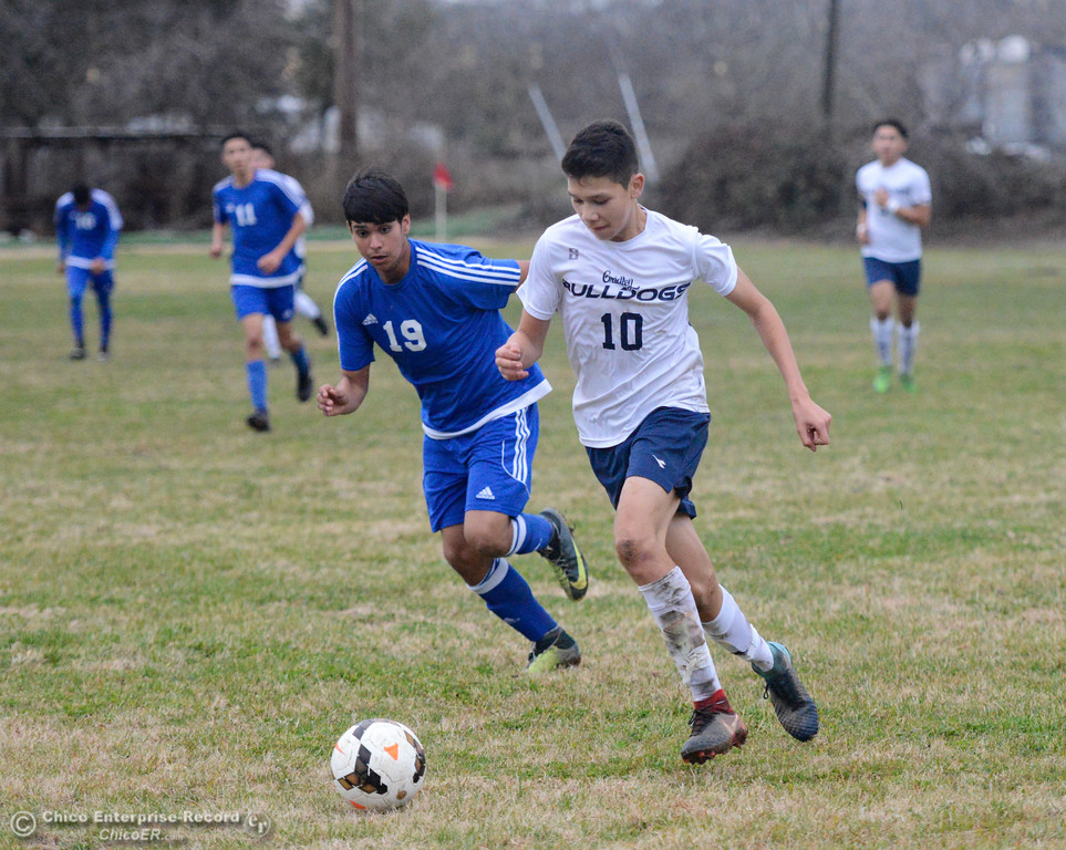 . Gridley High hosts Orland boys soccer January 9, 2018 in Gridley, California. (Emily Bertolino -- Enterprise-Record)
