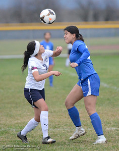 Gridley High hosts Orland boys soccer January 9, 2018 in Gridley, California. (Emily Bertolino -- Enterprise-Record)
