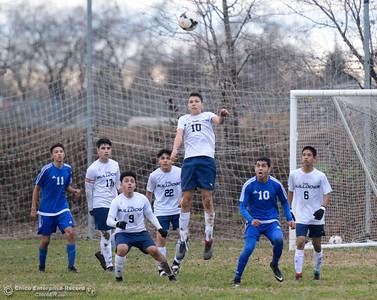 Gridley High hosts Orland boys soccer January 9, 2018 in Gridley, California. (Emily Bertolino -- Enterprise-Record)
