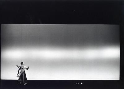 Isabelle Huppert (Orlando) Théâtre Vidy-Lausanne, 1993 Photograph © Abisag Tüllmann