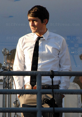 Non Exclusif- Orlando Bloom during the set of The Good Doctor in Venice California.
