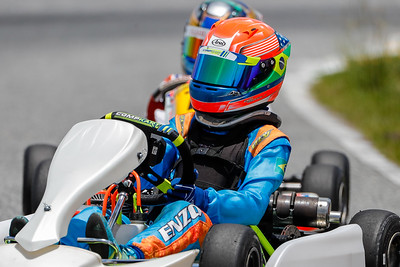May 9, 2020, Orlando, FL, USA; Drivers take laps for an upcoming race during practice day at The Orlando Kart Center Speedway. Mandatory credit: Mike Watters