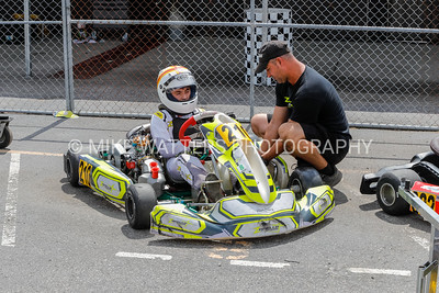 Sept 27, 2020, Orlando, FL, USA; Drivers compete in the Junior division during Round 12 of the Orlando Open race at the Orlando Kart Center Speedway. Mandatory credit: Mike Watters