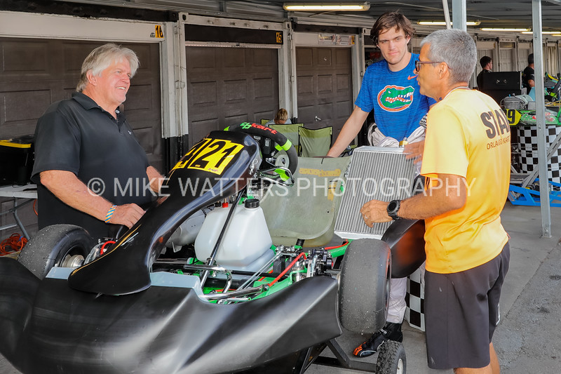 Sept 27, 2020, Orlando, FL, USA; Drivers, family, and fans gather before and after races during Round 12 of the Orlando Open race at the Orlando Kart Center Speedway. Mandatory credit: Mike Watters