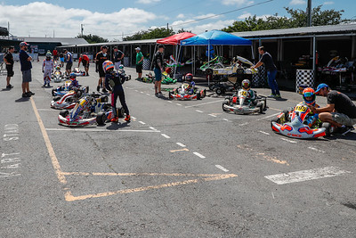 May 17, 2020, Orlando, FL, USA; Drivers of all ages compete in round 2 of the Orlando Open race at The Orlando Kart Center Speedway. Mandatory credit: Mike Watters