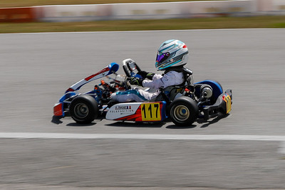 May 17, 2020, Orlando, FL, USA; Drivers compete in round 2, race 1 of the Orlando Open race at The Orlando Kart Center Speedway. Mandatory credit: Mike Watters