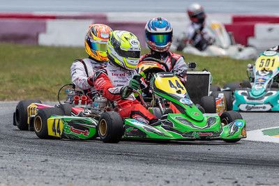 May 17, 2020, Orlando, FL, USA; Drivers compete in round 2, race 4 of the Orlando Open race at The Orlando Kart Center Speedway. Mandatory credit: Mike Watters