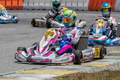 May 17, 2020, Orlando, FL, USA; Drivers compete in round 2, race 7 of the Orlando Open race at The Orlando Kart Center Speedway. Mandatory credit: Mike Watters