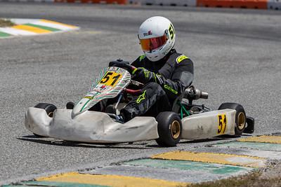 May 17, 2020, Orlando, FL, USA; Driver Ethan Fournier (51) competes in round 2, race 9 of the Orlando Open race at The Orlando Kart Center Speedway. Mandatory credit: Mike Watters