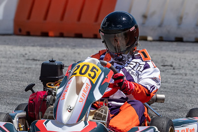 May 17, 2020, Orlando, FL, USA; Drivers compete in round 2, race 9 of the Orlando Open race at The Orlando Kart Center Speedway. Mandatory credit: Mike Watters