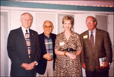 Judge Fritz Pfeiffer, Andy Serros, Grace Chewning, former city commissioner Tom Brownlee in March 1998. They had just attended a Phi Delta Theta Alumni luncheon where Grace Chewning was a speaker.