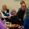KRISTOPHER RADDER — BRATTLEBORO REFORMER<br /> A large group of people gathered at the River Garden, in Brattleboro, to honor Orly Munzing, former executive director and founder of Strolling of the Heifers,  during her retirement party on Friday, Jan. 31, 2020.