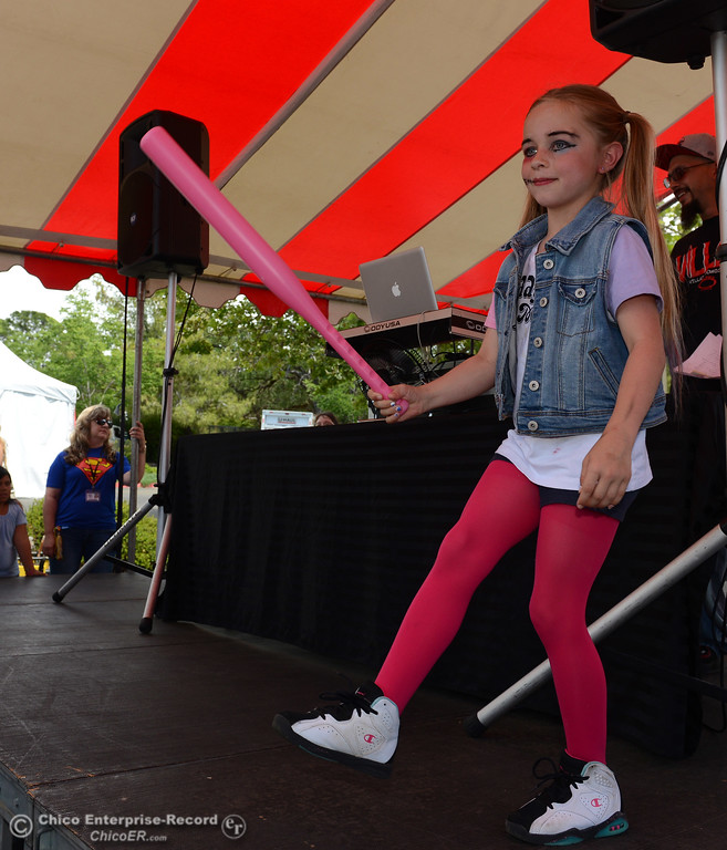. Aiyana Shay, 8, as Harley Quinn at Oro Con on Saturday, June 3, 2017, at Feather Falls Casino in Oroville, California. (Dan Reidel -- Enterprise-Record)