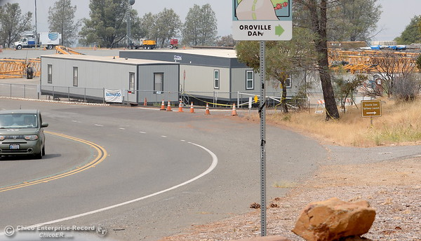Thje Greenline Tour road to the Lake Oroville Dam remains closed to the public along with the Vista Point but locals are getting their first look at the Oroville Dam Spillway since the emergency that closed Oro Dam Blvd. East to the public more than a year ago Monday, July 30, 2018. (Bill Husa -- Enterprise-Record)