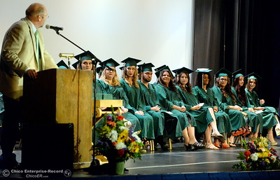 OUHSD Superintendent Dr Corey Willenberg speaks during the Oroville Adult Education Center Class of 2018 graduation ceremonies at the State Theater in Oroville, Calif. Tuesday June 5, 2018. (Bill Husa -- Enterprise-Record)