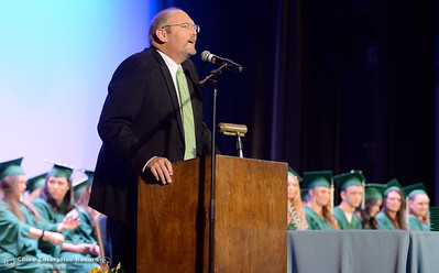 Superintendant Dr. Corey Willenberg speaks during the Oroville Adult Education Center graduation ceremonies at the State Theatre in Oroville, Calif. Tues. June 6, 2017. (Bill Husa -- Enterprise-Record)
