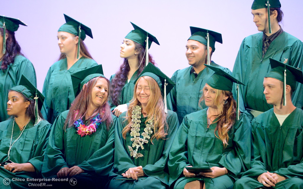 . during the Oroville Adult Education Center graduation ceremonies at the State Theatre in Oroville, Calif. Tues. June 6, 2017. (Bill Husa -- Enterprise-Record)