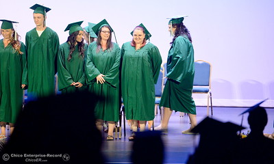 during the Oroville Adult Education Center graduation ceremonies at the State Theatre in Oroville, Calif. Tues. June 6, 2017. (Bill Husa -- Enterprise-Record)