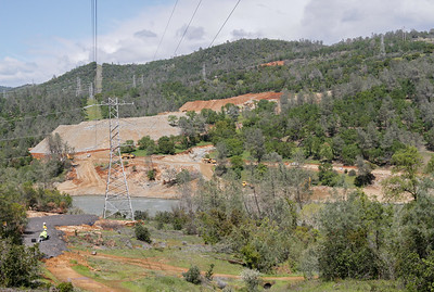 Photos taken at and around the Oroville Dam and spillway as DWR and other companies work on repairs March 27, 2017 in Oroville, California. (Emily Bertolino -- Enterprise-Record)