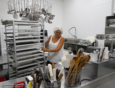 Home economics teacher Toni Morucci prepares the her kitchen classroom for the start of the food service and hospitality pathway this fall semester August 15, 2016 at Oroville High School in Oroville, Calif. (Emily Bertolino -- Mercury Register)