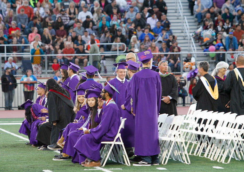. Oroville High School class of 2017 graduation ceremony Thursday June 8, 2017 at Harrison Stadium in Oroville, California. (Emily Bertolino -- Enterprise-Record)