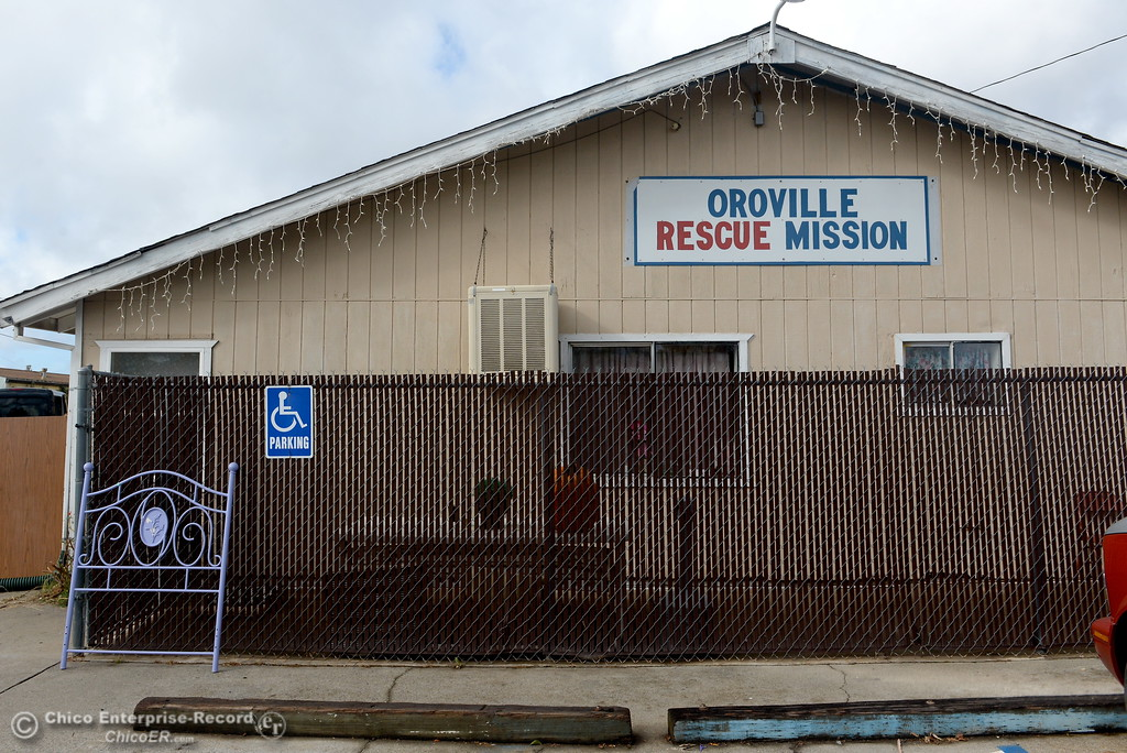 . The sign facing Lincoln Blvd. is seen during a tour of the Oroville Rescue Mission on Lincoln Blvd. in Oroville, Calif. Thurs. Nov. 9, 2017.  (Bill Husa -- Enterprise-Record)