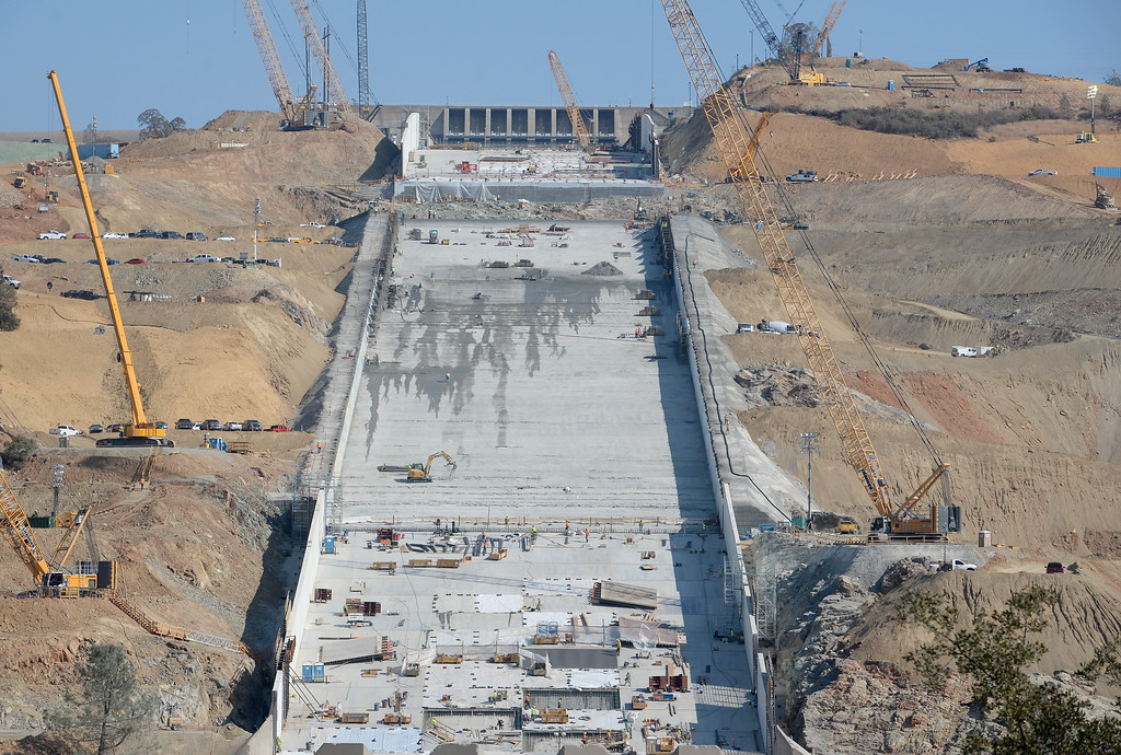 PHOTOS: Oroville Spillway Construction Update 10-18-2017 - Oroville