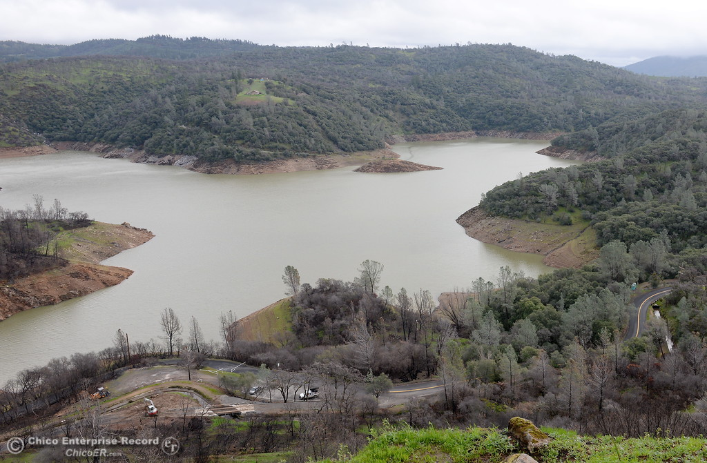 . Lake Oroville is seen from Silvera Ct. above the Nelson Bar Day use facility Tues. Feb. 21, 2017. (Bill Husa -- Enterprise-Record)