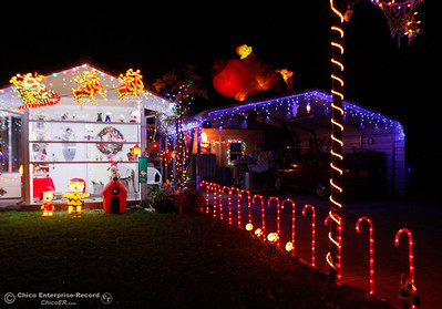 Tina Beers has been setting up her display at 115 Grand Avenue for 30 years, adding to it each year December 6, 2016 in Oroville, California. (Emily Bertolino -- Mercury Register)