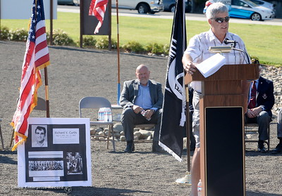 during the Oroville Veterans Memorial Park opening ceremony Friday July 28, 2017. (Bill Husa -- Enterprise-Record)