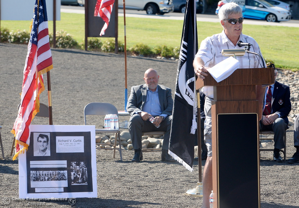 . during the Oroville Veterans Memorial Park opening ceremony Friday July 28, 2017. (Bill Husa -- Enterprise-Record)