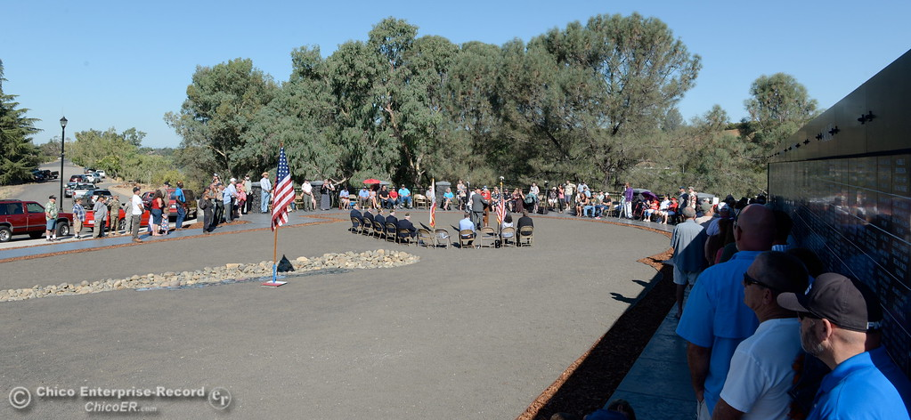 . Over 100 people were present during the Oroville Veterans Memorial Park opening ceremony Friday July 28, 2017. (Bill Husa -- Enterprise-Record)