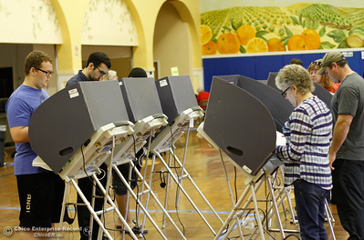 Voters consistently turn out to vote in the 2016 election November 8, 2016 in Oroville, California. (Emily Bertolino -- Mercury Register)