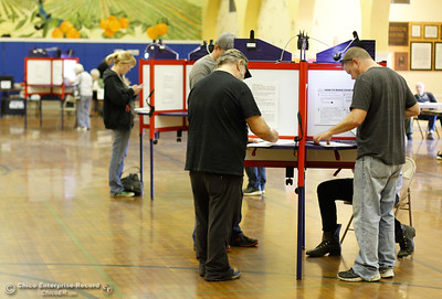 Voter turnout at the Feather River Municipal Center was said to be steady as pollsters showed up to cast their vote in the 2016 election November 8, 2016 in Oroville, California. (Emily Bertolino -- Mercury Register)