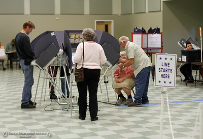 Voter turnout was steady at the Southside Community Center November 8, 2016 in Oroville, California. (Emily Bertolino -- Mercury Register)