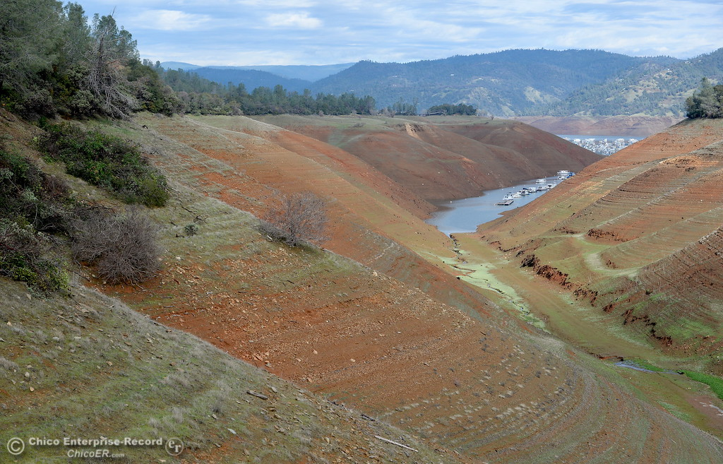 . Lake Oroville is seen looking toward Bidwell Canyon Marina from the Saddle Dam arm of the lake Thursday in Oroville, Calif. Jan. 11, 2018.  (Bill Husa -- Enterprise-Record)