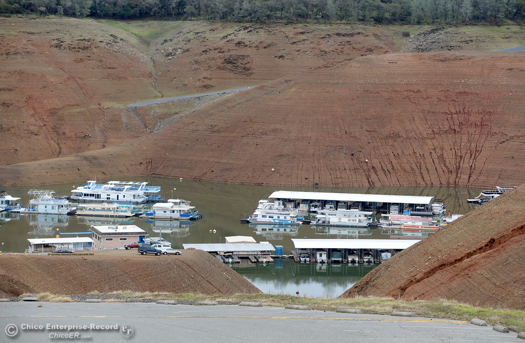 . Bidwell Canyon Marina and a high and dry Loafer Creek Campground boat ramp is seen in Oroville, Calif. Jan. 11, 2018.  (Bill Husa -- Enterprise-Record)