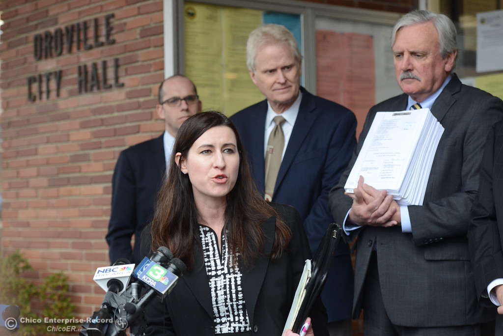 . The city of Oroville filed a lawsuit today against the state Department of Water Resources for the Oroville Dam crisis Wednesday January 17, 2018 at Oroville City Hall in Oroville, California. (Emily Bertolino -- Enterprise-Record)