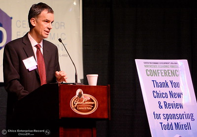 Todd Mirell of Union Bank talks about real estate during the North State Economic Forecast Conference at Gold Country Casino in Oroville, Calif. Thurs. Jan. 18, 2018. (Bill Husa -- Enterprise-Record)